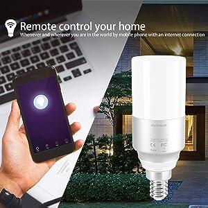 Wi-Fi Smart Lampadina Gestita da App Smartphone