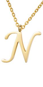 dorato nome infinito argento 925 iniziale iniziali catena alfabeto Collana Ciondolo Lettera