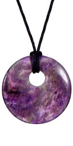 Collana di pietre preziose da donna Morella Ametista Yoga Chakra Reiki Guarisci prodotto naturale