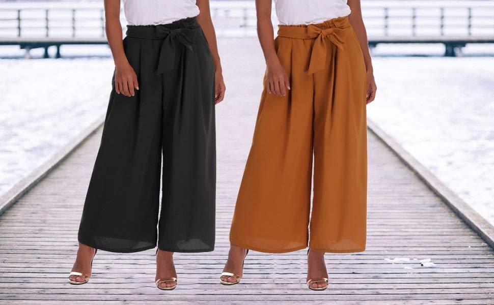 Ufficio Elegante Vita : Abollria donna pantaloni eleganti a vita alta con cintura pantaloni