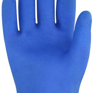 alcali e olio resistono a forti acidi Vgo 2 paia Guanti in PVC resistenti taglia 9//L, 26.7cm, blu, PVC4010