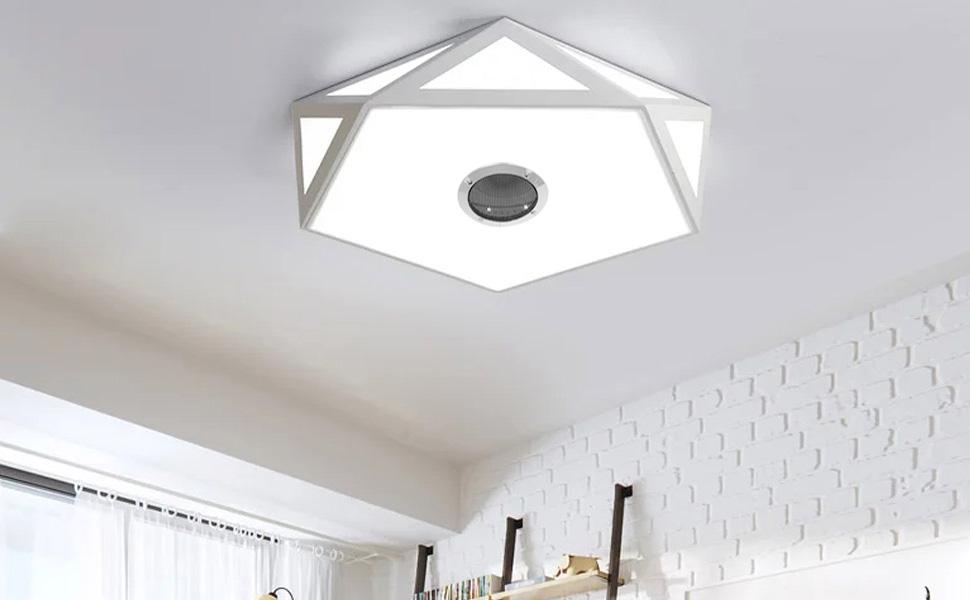 Plafoniere Con Altoparlanti : Plafoniera led soffitto con telecomando integrato bluetooth