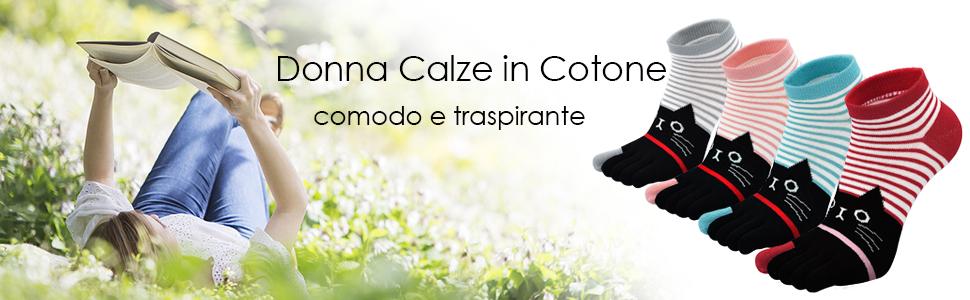 Donna Calzini con Dita Separate 4 Paia Cotone Calze Gatto da Donna Calzini Termici Adulti Donne Casuale Confortevole Novit/à Calze