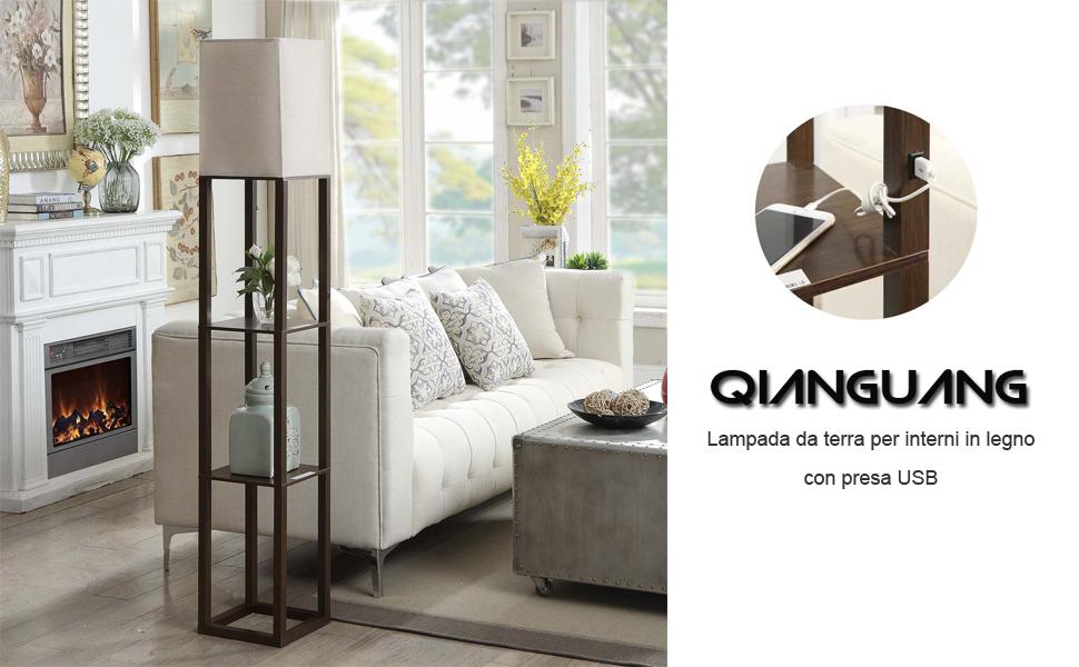 Qianguang® illuminazione interna lampada da terra in legno da 1 6 m