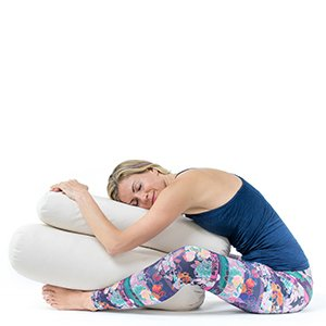 Rivestimento in Cotone Lavabile Cuscino Yoga Bolster Rullo per Yoga Cuscino Rullo Yoga per Restorative Yoga Ripieno di Kapok Lotuscrafts Bolster Yoga Rettangolare per Yin Yoga