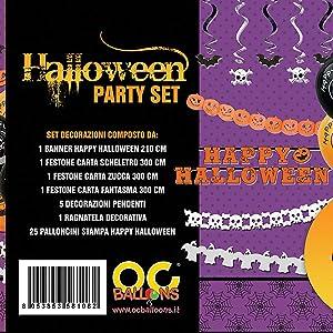 Set Party Halloween Decorazioni Pendenti Festone Palloncini ... c694d08ff94b