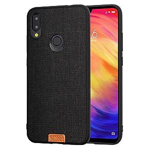 Custodia Carbonio Xiaomi Redmi Note 6 Pro Cover Case Silicone Spessa Rinforzata