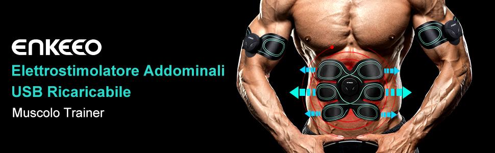enkeeo elettrostimolatore muscolare  ENKEEO Elettrostimolatore Muscolare, Cintura Tonificazione ...