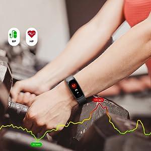 HETP Fitness Tracker, Orologio Fitness Braccialetto..