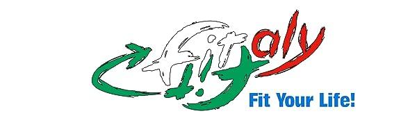 Logo de FitFitaly, une entreprise italienne d'articles sportifs tels que la genouillère en néoprène