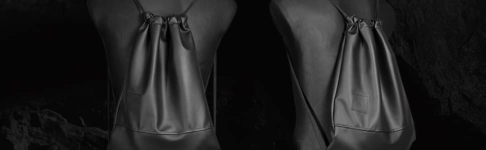 Black Out Sports Bag Zaino in pelle artificiale Gym Bag borsa borsa sportiva borsa sportiva Manufaktur13 M13