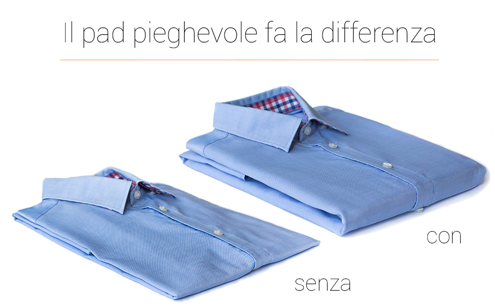 Il pad pieghevole fa la differenza come trasportare una camicia come confezionare una camicia