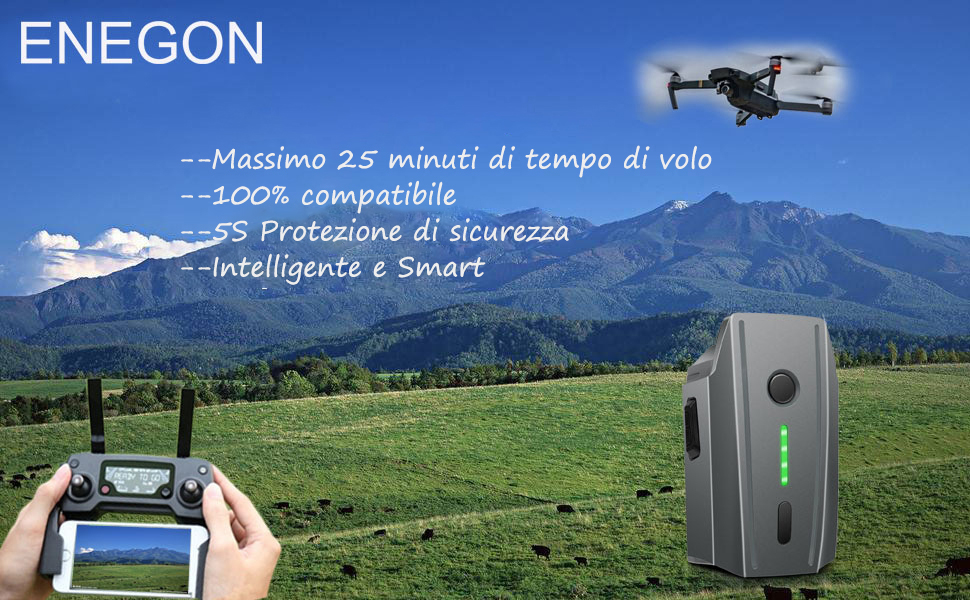 Non adatto per Mavic 2 Batteria Mavic Pro Confezione da 2 ENEGON 11,4V 3830mAh Batteria di Ricambio Intelligente per Volo LiPo Borsa per DJI Mavic Pro /& Platinum /& Alpine Bianco Drones