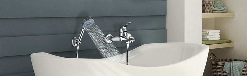 Rubinetto per vasca da bagno con doccetta