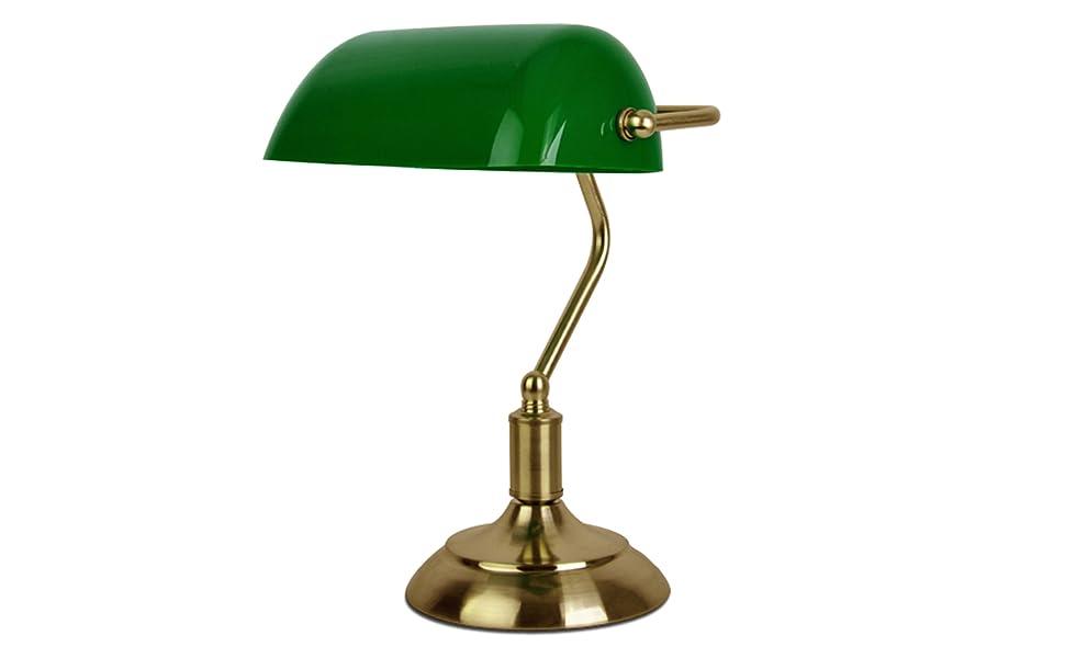 Minisun lampada da tavolo tradizionale con una finitura d ottone