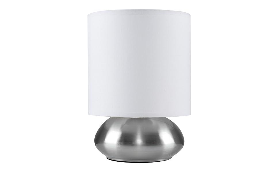 Minisun lampada da tavolo con funzione touch finitura cromata e