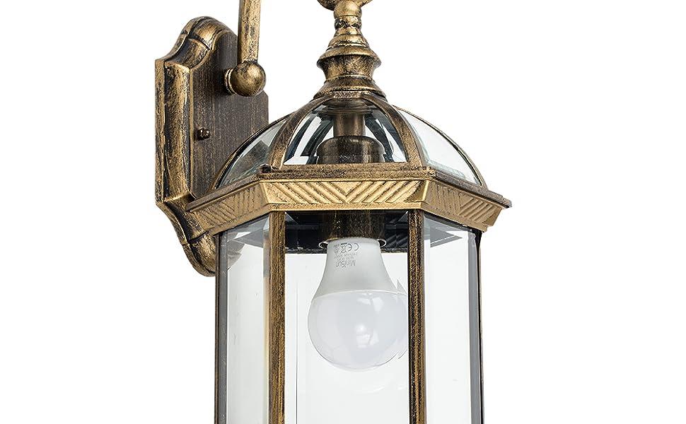 Plafoniere Minisun : Minisun lampada lanterna tradizionale da parete per esterni in