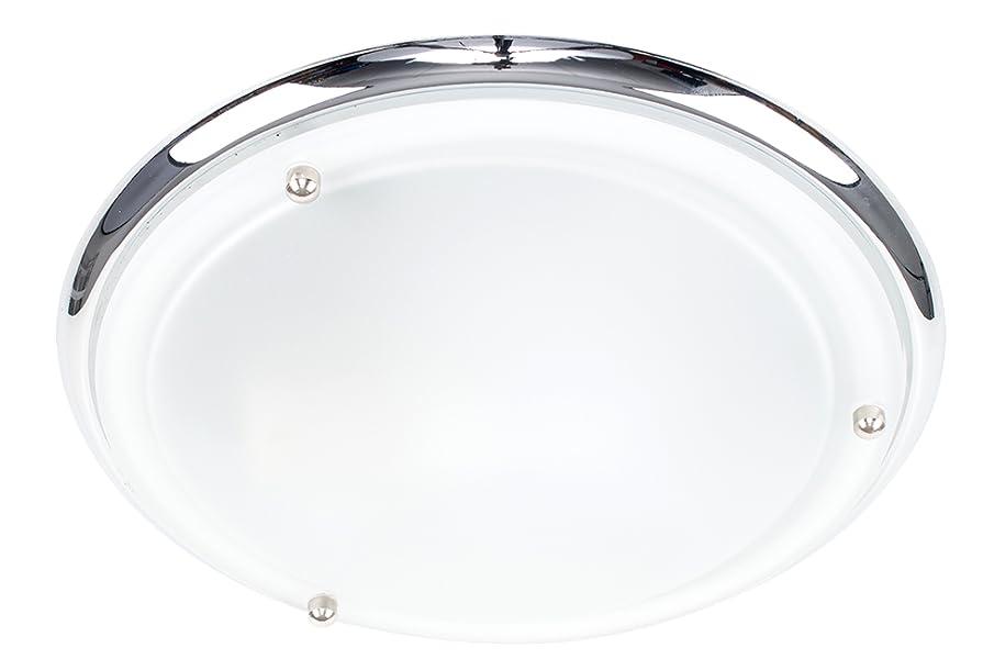 Plafoniere Minisun : Plafoniera ip44 flush moderna e rotonda con finitura cromata lucida
