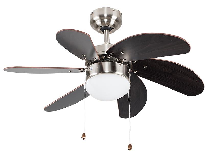 Plafoniere Con Pale : Minisun ventilatore da soffitto moderno con pale michigan