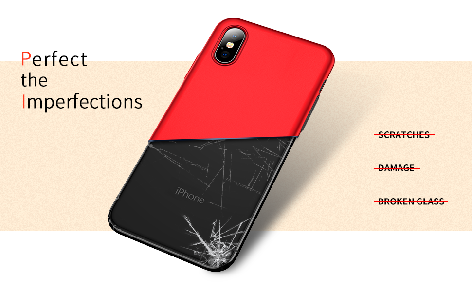 RANVOO Cover iPhone XS Custodia iPhone XS in Plastica Dura PC