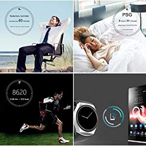 KW18 Bluetooth Smart Watch,IPS AMOLED Touch Screen Resistente all'Acqua con Slot