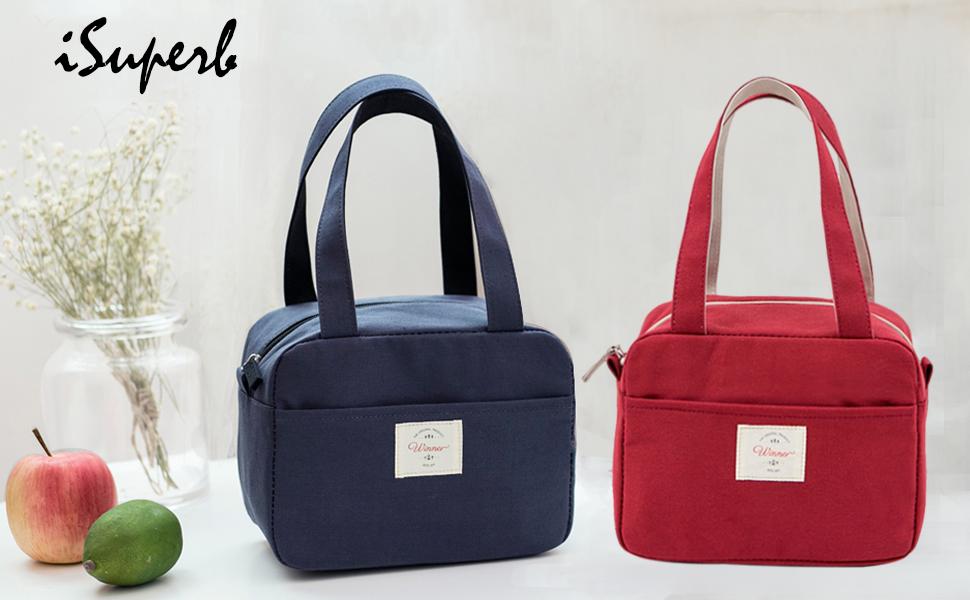 Borse Porta Pranzo Ufficio : Isuperb borsa termica borsa porta pranzo lunch bag impermeabile