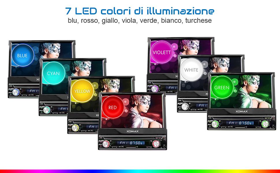 LED Colore XOMAX XM-VRSU743BT