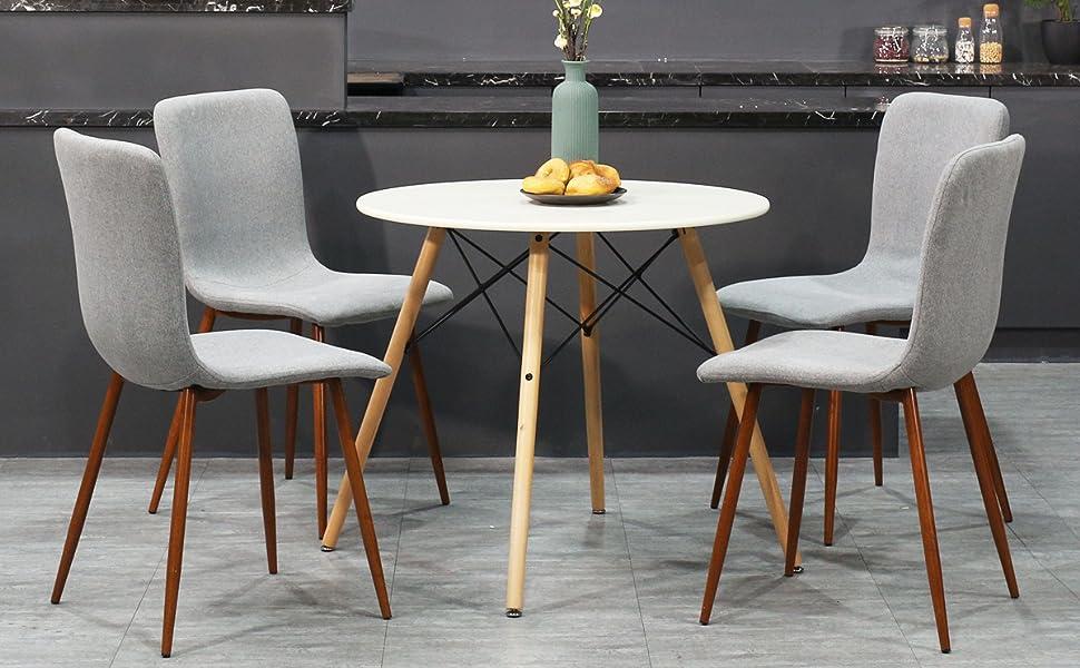Coavas sedie da pranzo set di sedie da cucina in tessuto con
