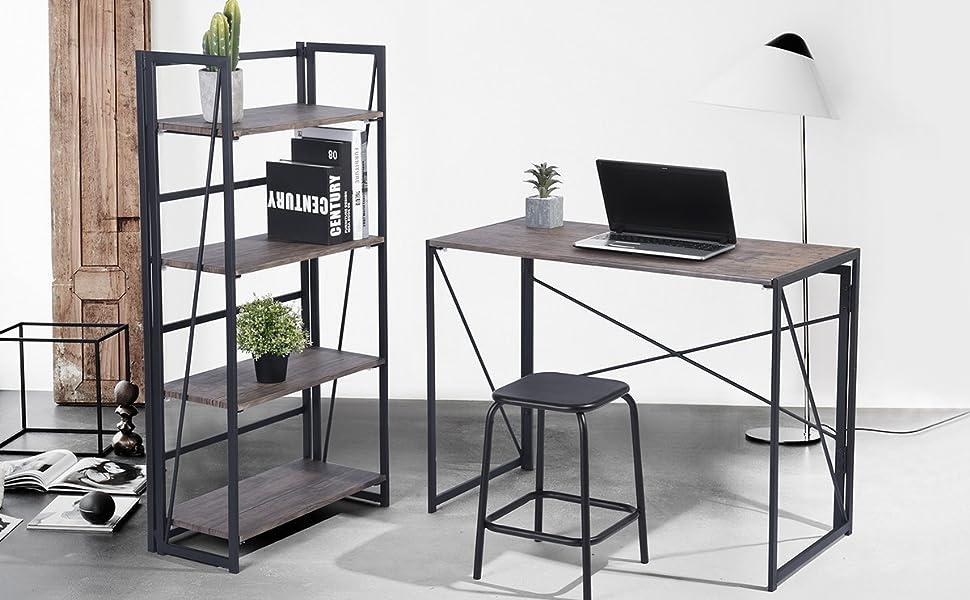 Scrivania Pieghevole Bambino : Coavas pieghevole scrivania pc in legno pieghevole tavolo da