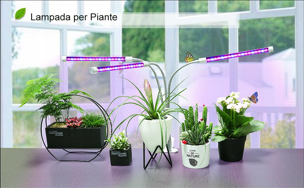 Belle w lampada per piante con led triplo testa led luce per