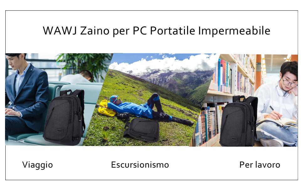 Zaino per PC Portatile Impermeabile