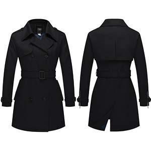 55baecf3c2dd4e ZSHOW Cappotto Doppiopetto con Cintura Trench Coat Donna: Amazon.it ...