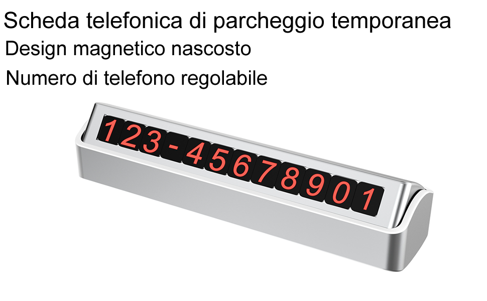 Efish Temporaneo Parcheggio Scheda Telefonica Reversibile