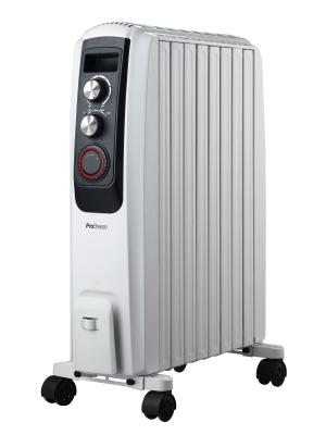 Radiatore ad Olio Elettrico 9 Elementi 1000W 39x13,4x37cm Termostato pro.tec