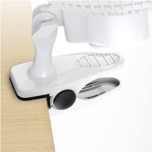 Pro Breeze Mini Ventilatore Professionale con Clip I Piccolo Ventilatore Elettrico con Funzionamento Ultra-Silenzioso e 2 Impostazioni di Velocità I 15W. Per Casa, Letto, Ufficio e Scrivania