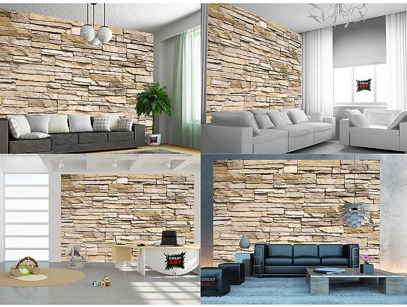 Poster fotografico parete di pietra decorazione pietra in for Decorare muro stanza