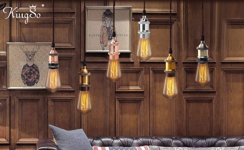 Kingso vintage hanging kit luce moderna del pendente retro style