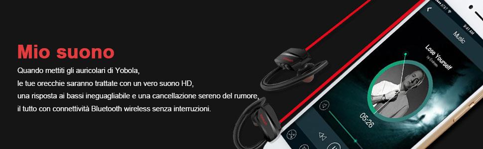 yobola Standby Ultra Lungo Cuffie Bluetooth Wireless Senza Fili ... 6c8720bf9eca