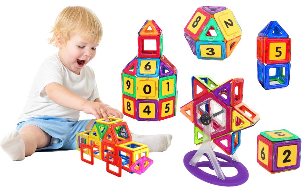 Costruzioni-Magnetiche-Bambini-Gioco-Educativo-Creativo-Bimbini