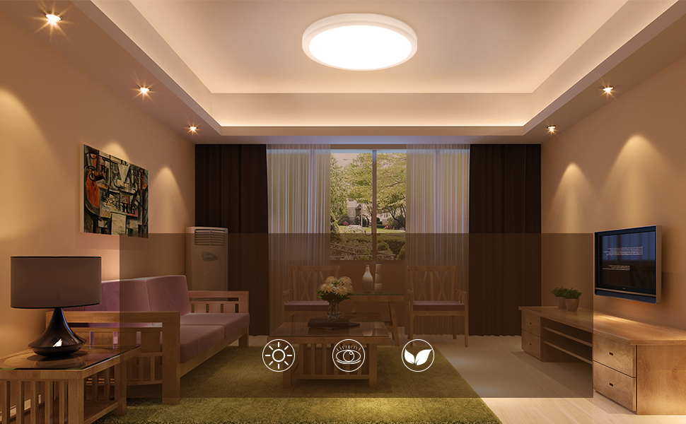 Plafoniera Led Incasso 24w : Oeegoo led plafoniera w mm ultra magro lampada da soffitto
