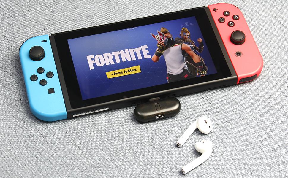 7f9c34c80819a2 Primo trasmettitore Bluetooth stereo senza fili per Nintendo Switch
