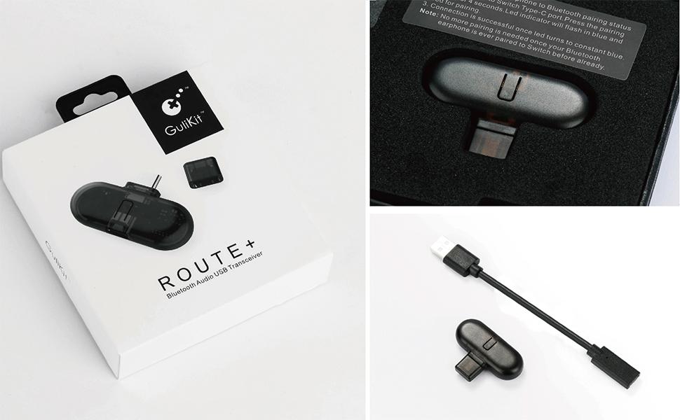 89fa25ee1da532 Primo trasmettitore audio Bluetooth senza fili USB C con aptX a bassa  latenza per Nintendo Switch
