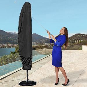 primo Copertura Protettiva per ombrelloni da giardino-impermeabile traspirante e-Made B