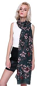 Longwu Idea regalo da donna Sciarpa lunga in cotone Sciarpe da donna Fazzoletto