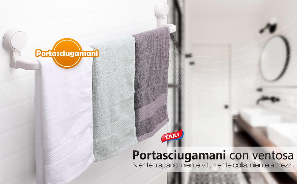 Accessori Da Bagno Con Ventosa : Taili portasciugamani con ventosa cm per il bagno e la cucina