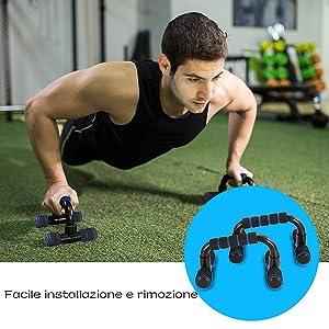TOMSHOO 5-in-1 Fitness Workout Set - AB Wheel Roller Addominali +2 Maniglie per Flessioni + Corda per Saltare + Pinza… kFwE7SrKSLC0. UX300 TTW