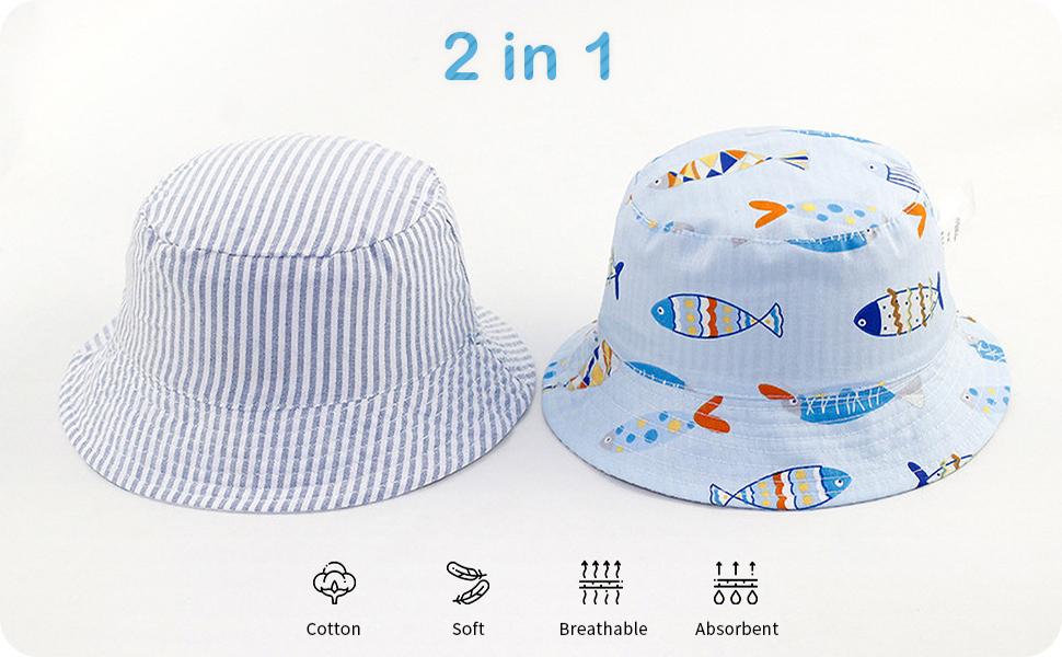 Adorel Cappello da Sole Reversibile Estivo per Bambino