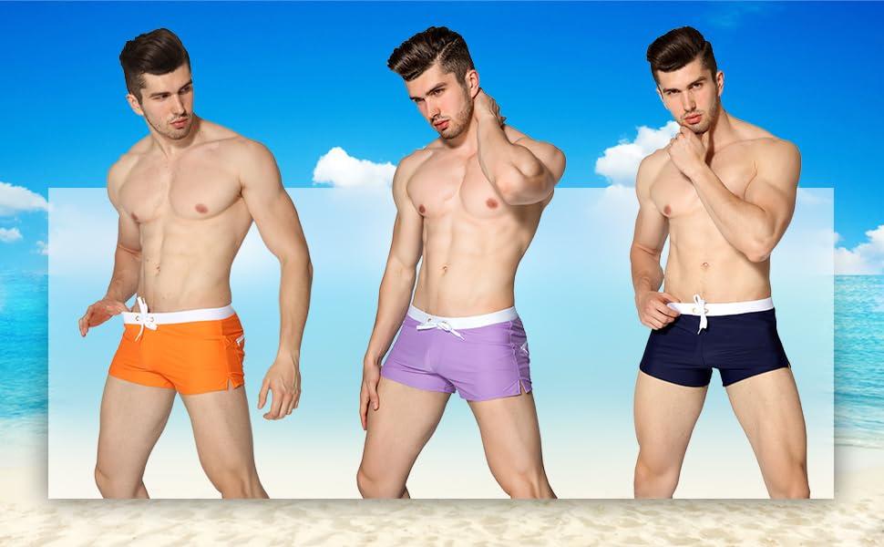 Costume da bagno da uomo in tre diversi colori