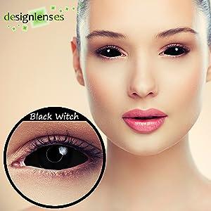 Occhi zombie completamente neri Lenti colorate copre l'intero occhio ad alto comfort senza diottrie