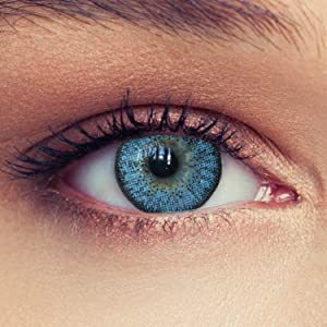 Natural looking sky blue colored contacts without power contact lenses no power